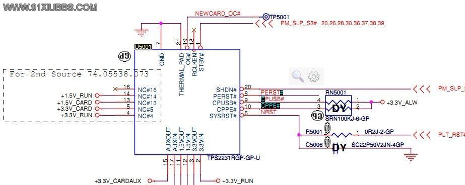 戴尔pp18l电源电路图