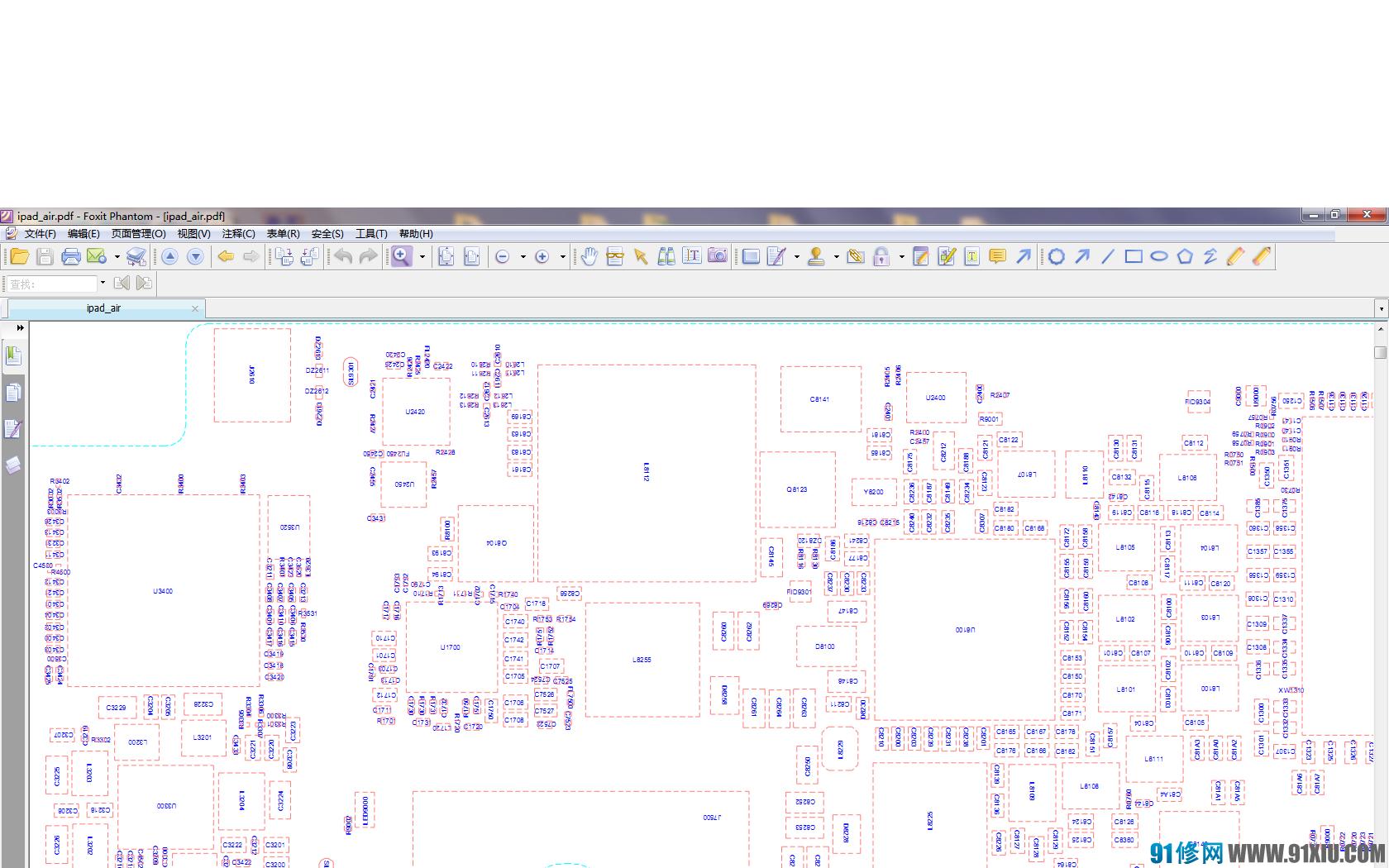 ipad air的电路图纸和元件位置图及关键测试点位图图